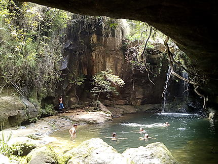 Une cascade dans le parc de l'Isalo