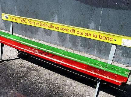 Banc insolite Rue de l'Orillon