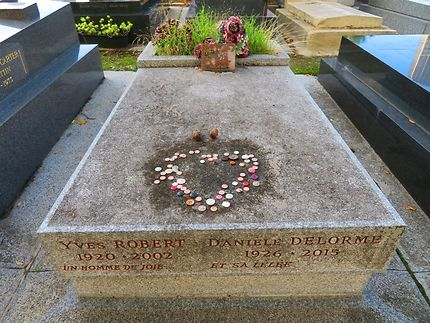 Tombe d'Yves Robert et Daniele Delorme