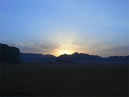 Couché de soleil au wadi rum
