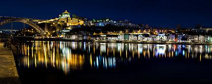 Vue depuis les quais de Porto