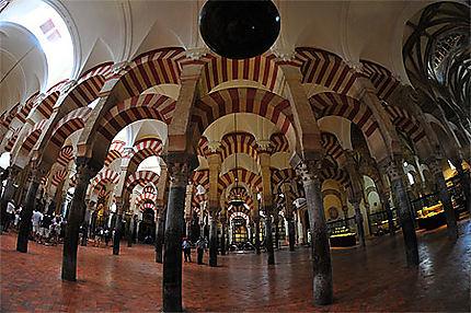 A l'intérieur de la Mezquita