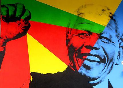Street art Nelson Mandela (Bonkone)