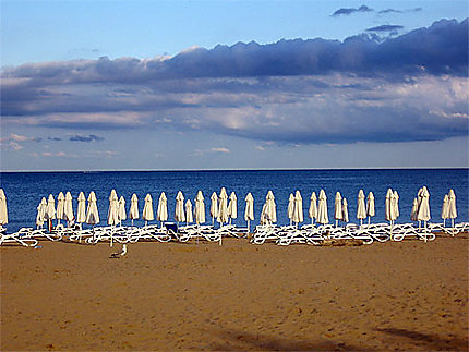Plage à sunny beach
