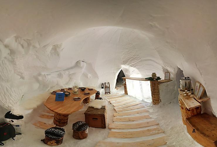 Dans un igloo à La Plagne (Savoie)
