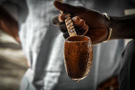 Le partage du vin de palme