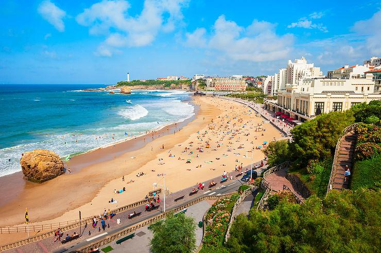 Grande plage de Biarritz, Pays basque