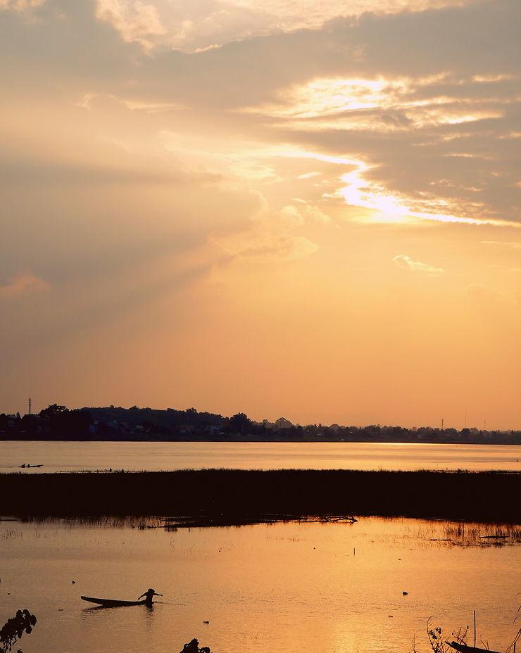 Coucher de soleil à Vientiane, Laos