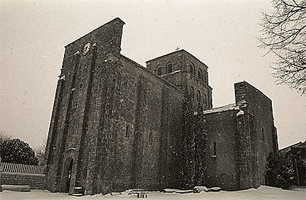 L'église de Nanclars sous la neige