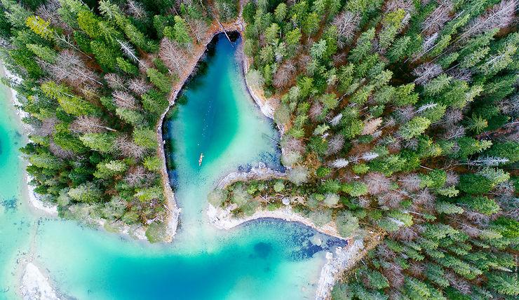 Bavière – Le lac Eibsee / Zugspitze
