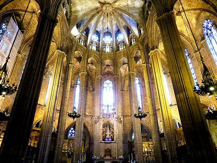 La nef de la cathédrale de Barcelone