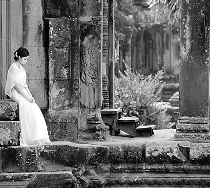 Mariée à Angkor Wat
