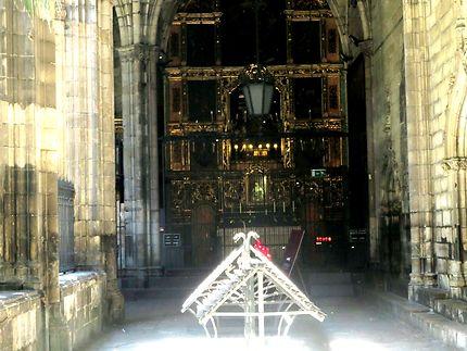 Le cloitre de la cathédrale de Barcelone