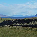 Eigg , Skye et Rum vues de l'île de Muck