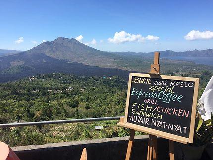 Vue du volcan Batur