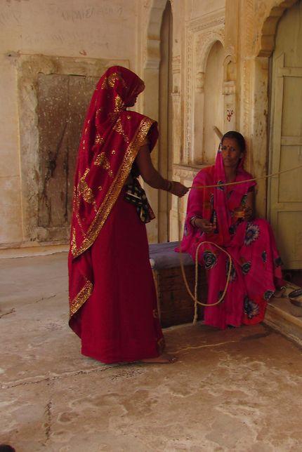 Couleurs et saris à Jaipur