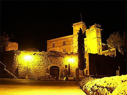 Château de Lourmarin dans la nuit