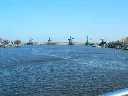 Alignement de moulins à vent-Zaanse Schans