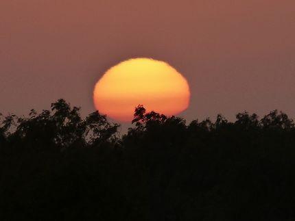 Magnifique coucher de soleil vu des dunes
