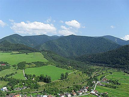 Panorama des environs de Zilina