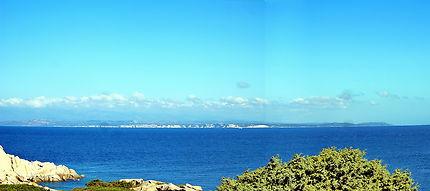 Corse du sud vue depuis la Sardaigne