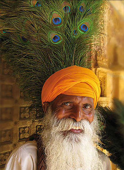 Vieil homme à Jaisalmer