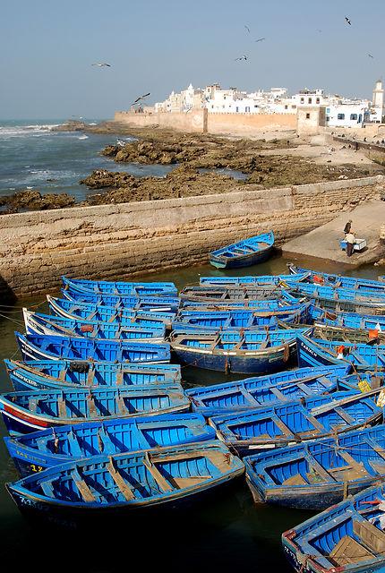 Le port d'Essaouira et la citadelle