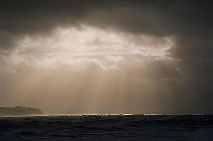 Ciel de tempête sur Biarritz