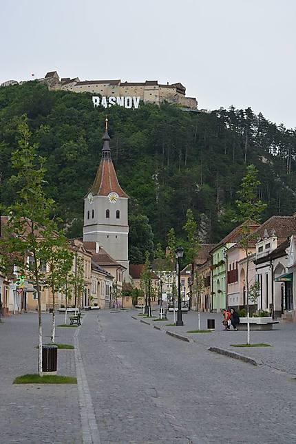 Petite ville médiévale de Roumanie