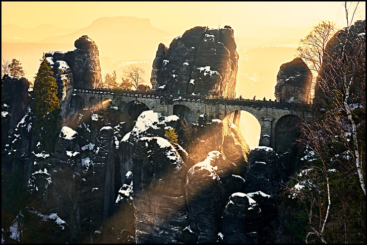 Ruines de Bastei, Vallée de l'Elbe, Allemagne, par KevinPhotographies