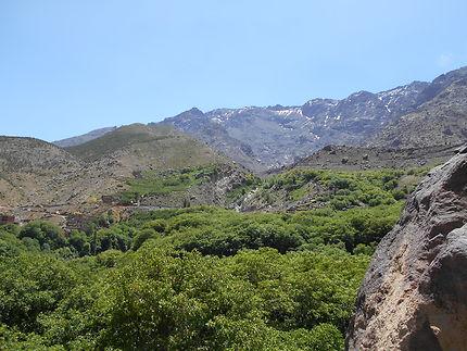 Au dessus d'Imlil, au Maroc