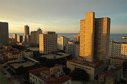 La Havane - Vedado au soleil Couchant