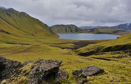 Couleurs d'Islande derrière Landmannahellir