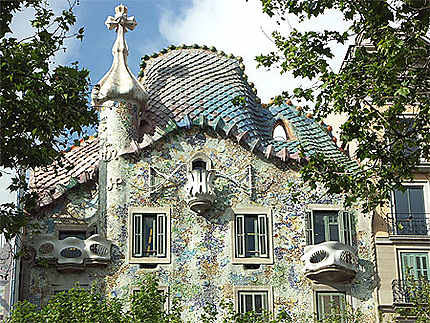 Façade de la Casa Batllo à Barcelone