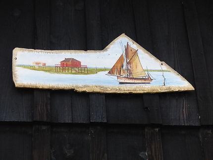 Décoration sur une cabane de pêcheur