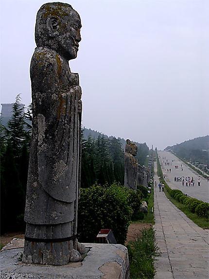 Mausolée de l'empereur Gaozong et de sa femme wu