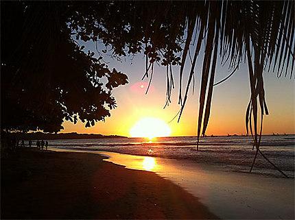 Coucher de Soleil sur Pacifique
