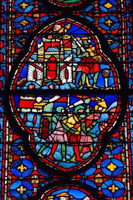 Sainte-Chapelle, magnifiques vitraux