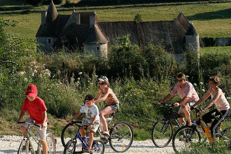 Balade à vélo et passage devant le château de Buranlure