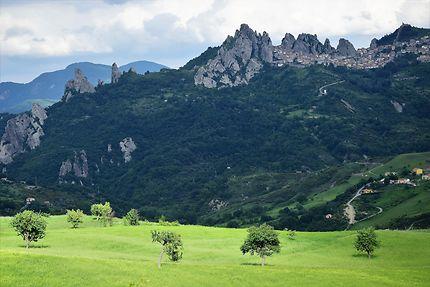 Les montagnes entre Castelmezzano et Pietrapertosa