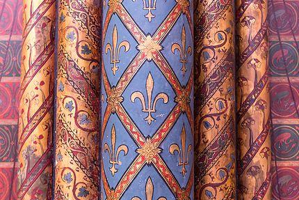Sainte-Chapelle, jolies colonnes peintes
