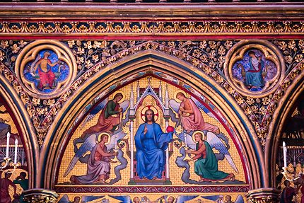Sainte-Chapelle, Jésus et les anges