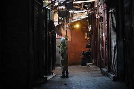 Le premier dans les souks de Marrakech