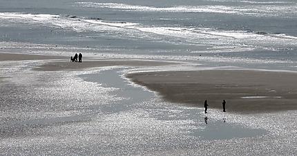 Côte d'Opale, marée basse