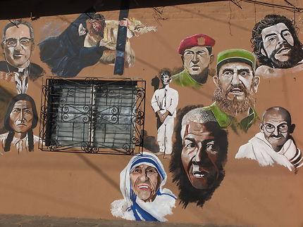 Fresque murale au Salvador
