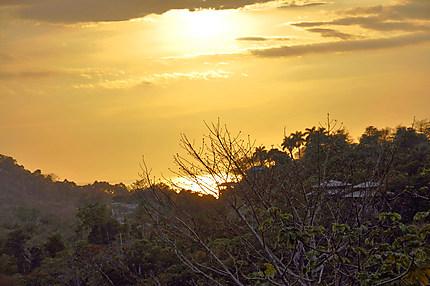 Couché de soleil au Parc national Manuel Antonio