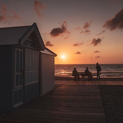 Fin de journée à Cayeux-sur-Mer