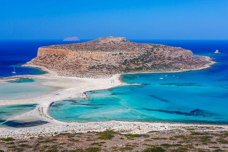 Plage de Balos et presqu'île de Gramvoussa