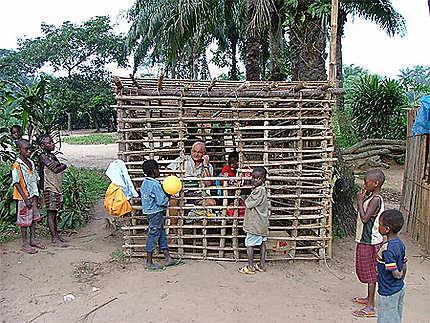 Cabine téléphonique congolaise