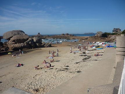 Journée d'été plage du Coz Pors